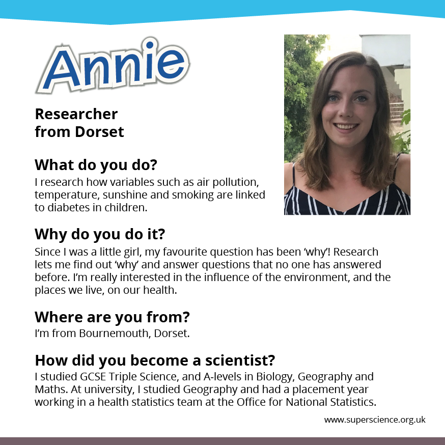 Image showing photo of Annie with description.